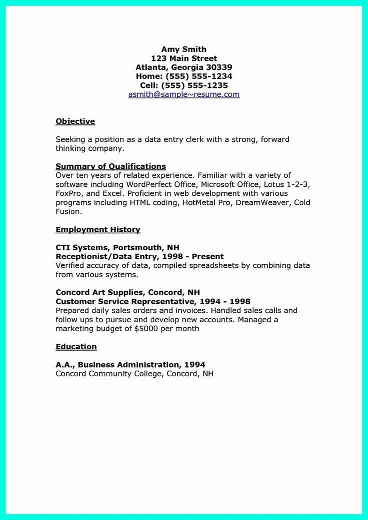 Data Entry Specialist Resume Best Of 2695 Best Images About Resume