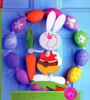 bunny with a carrot - spring/Easter paper craft pattern