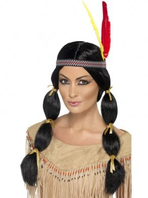 Peruka Indianki z opaską