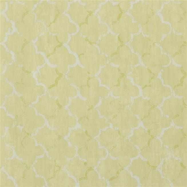 chinese trellis - lime wallpaper