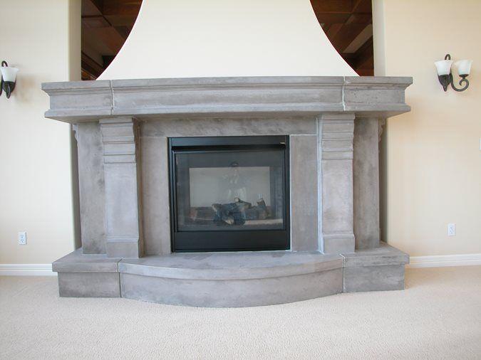 Fireplace Surrounds Lucioni Arts Tukwila Wa Concrete Fireplace