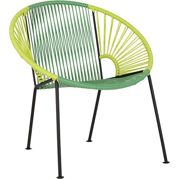 ixtapa tonal green lounge chair    CB2