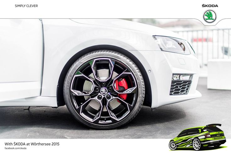"Wörthersee Treffen 2015 is all about style and passion. Perfect opportunity to showcase awesome alloy wheels on ŠKODA cars! 19"" Xtreme bicolour Black - Octavia RS 230 #RS230  #SKODAWoertherse"