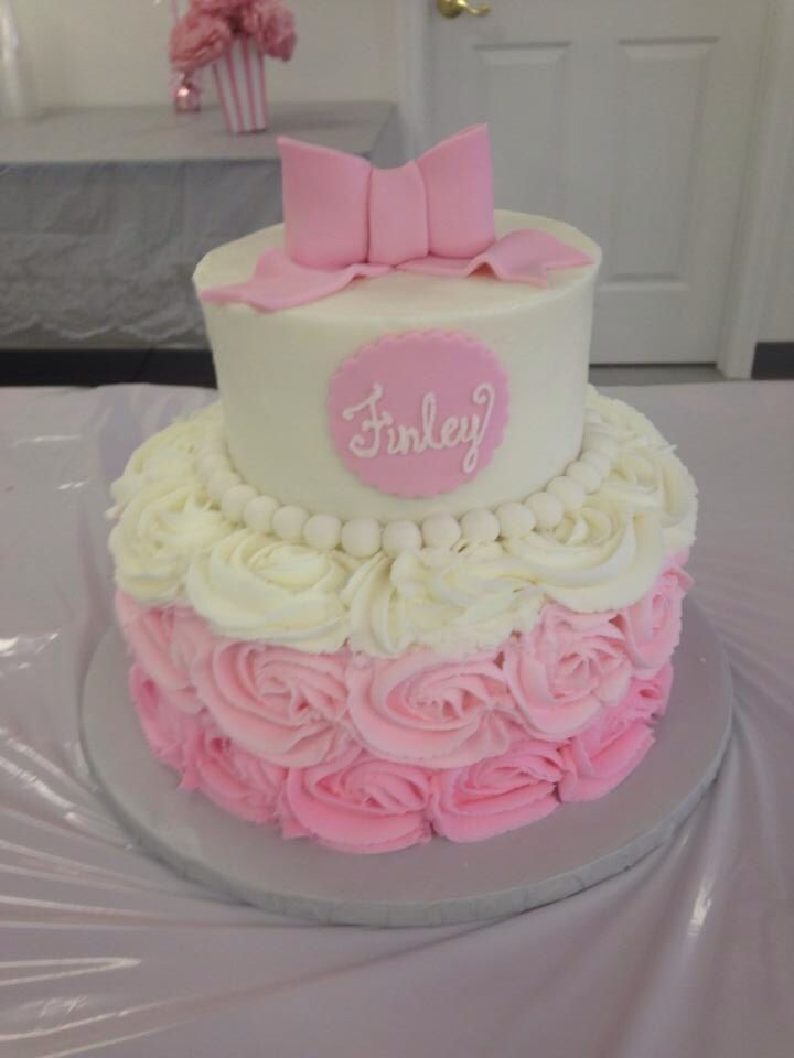 Cake Decorating Baby Shower Girl : 25+ best ideas about Girl shower cake on Pinterest Baby ...