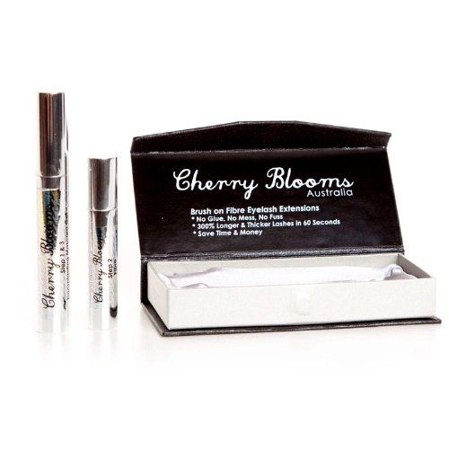 CHERRY BLOOMS Brush on Fiber Eyelash Extentions in Black