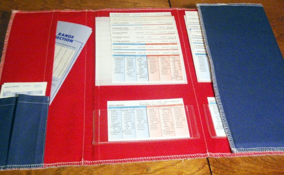 StratOMatic Baseball Card Organizer Custom Colors by lilecreations, $37.50
