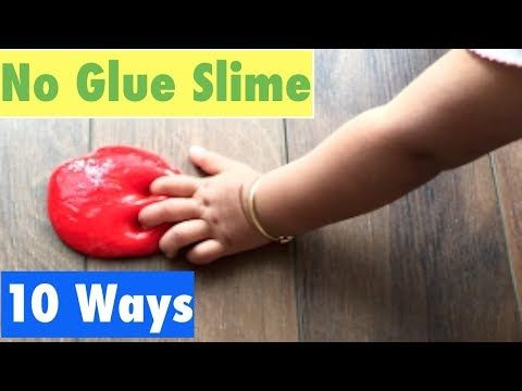 How To Make Slime Without Glue or Borax!! My Favourite Top 10 No Glue Slime Recipes - YouTube
