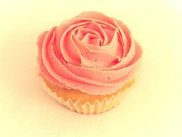 Soft pink rose swirl vanilla cupcake  www.designerscupcakes.com