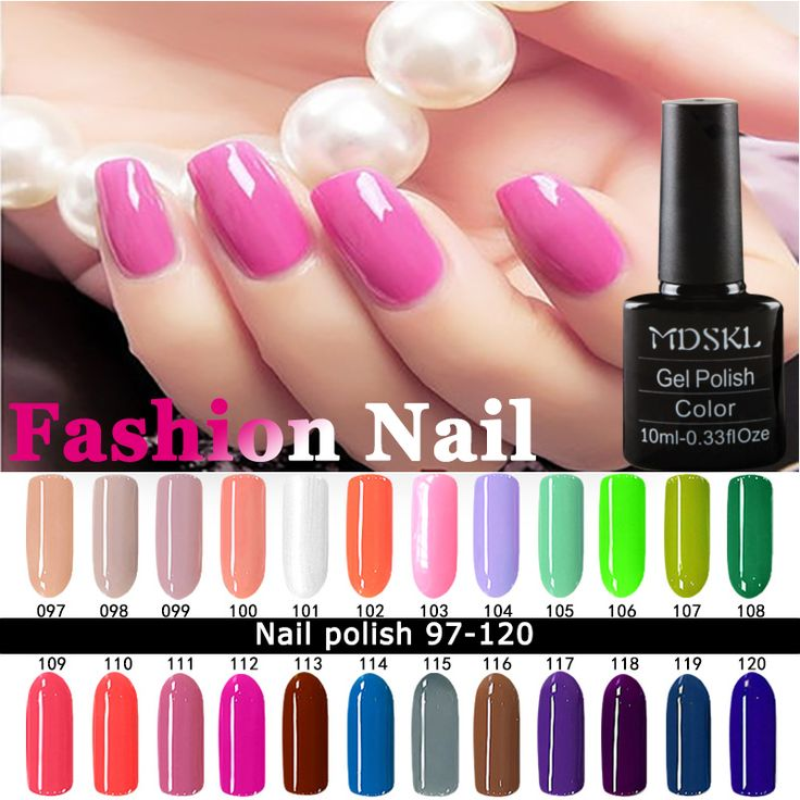 MDSKL Nail Polish 10ML High Quality Candy Long Lasting DIY Beauty Nail Art Tools 24 Colors For Choose *** Click the VISIT button to find out more
