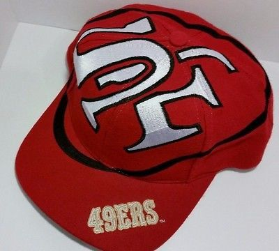 San Francisco 49ers Vintage Snapback The Game Big Logo Hat Rare Starter NFL Cap