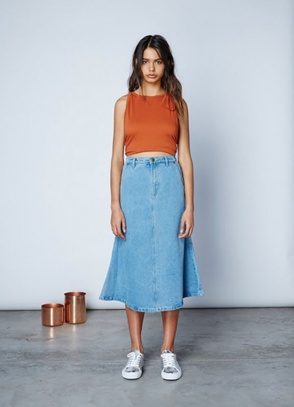 THE FIFTH - Stardust Skirt - Washed Denim
