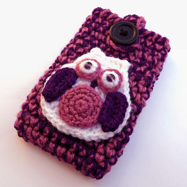 12 best crochet cell phone covers images on pinterest cell phone crochet purple owl phone case by daisybeth via flickr dt1010fo