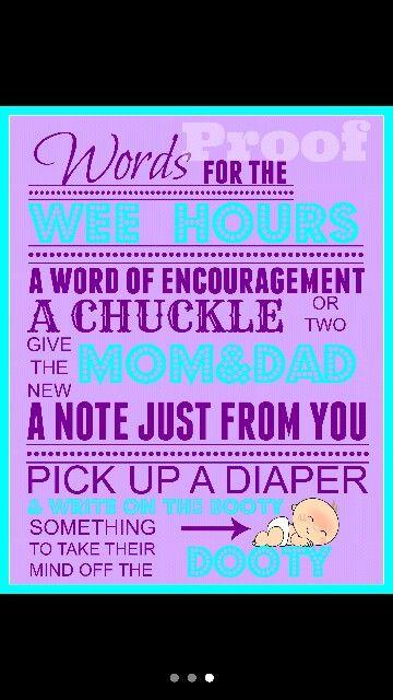 Diaper Message sign! ;-) | Salinas Baby Shower Games/Activities ...