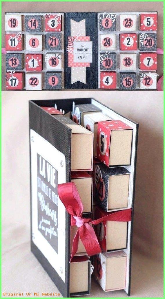 Diy Geschenke Faltbarer Adventskalender mit