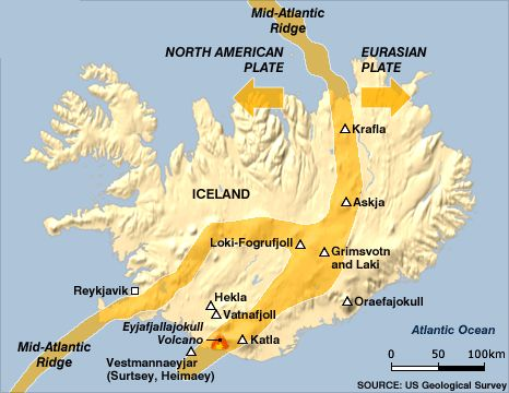 35 best useful maps and stuff images on pinterest earth science icelands volcanoes and an approximate indication of where the ridge runs through volcano icelandatlas mountainsappalachian gumiabroncs Image collections