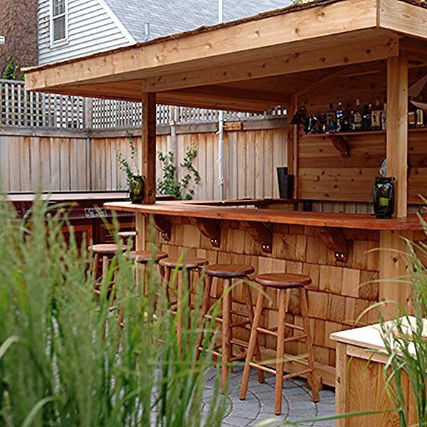 Garten Bar Aus Holz Fur Garten Terrasse Gestaltung Diy Outdoor Bar Outdoor Patio Bar Backyard Bar