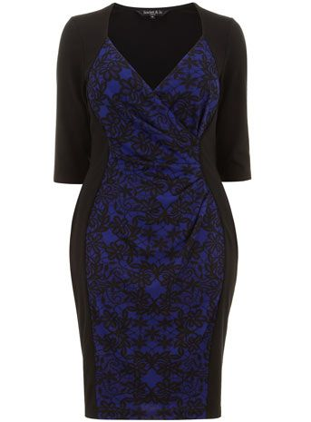 Scarlett & Jo Blue Lace - Plus Size Dresses That Flatter - Seattle Lifestyle Blog