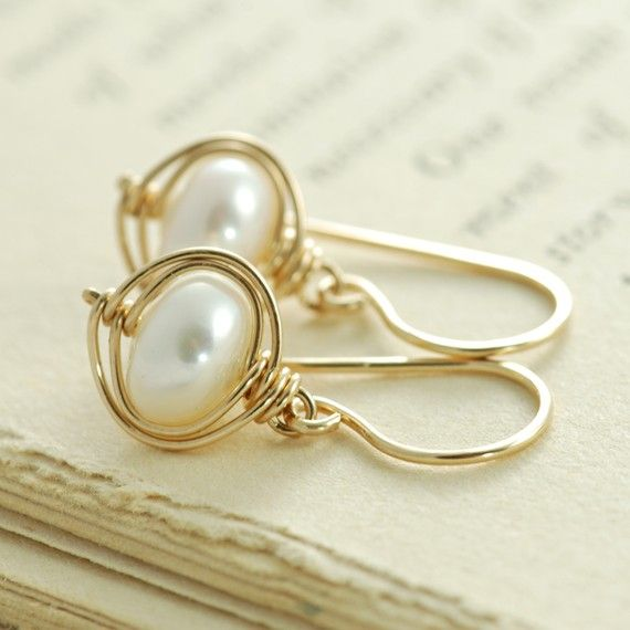 Pearl Earrings Jewelry Wire