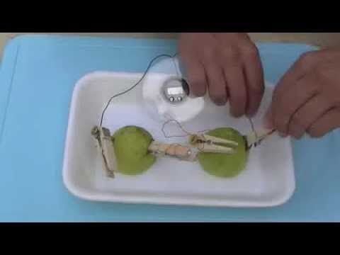 bateria con un limon experimento exelente para mostrarles a los niños - YouTube