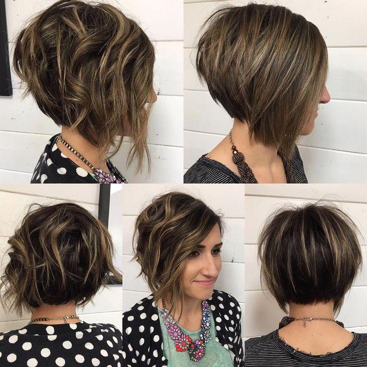 мелирование волос 2016 на короткий каскад