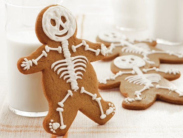 Gingerbread Skeletons  (Can also just use store bought already made ginger bread men for a easier and faster treat!)
