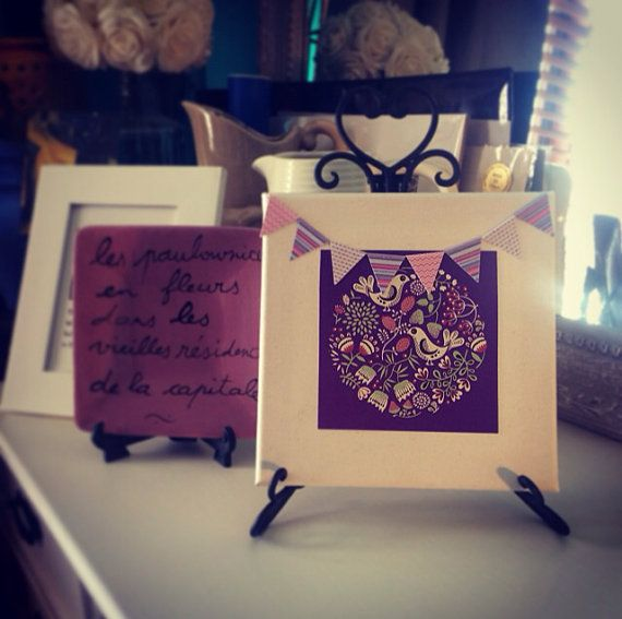 Purple for the home, on canvas on Etsy, $12.00 AUD