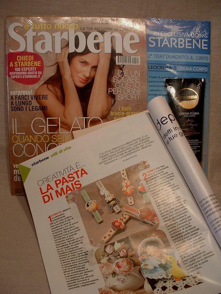 Le mie mollette chiudisacchetti-calamita sulla rivista Starbene