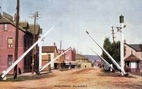 Main Street, Allandale (Color, Part of modern day Barrie)