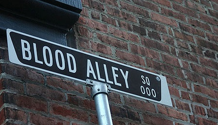 BLOOD ALLEY, GASTOWN.  One of the most haunted alleys in North America!!