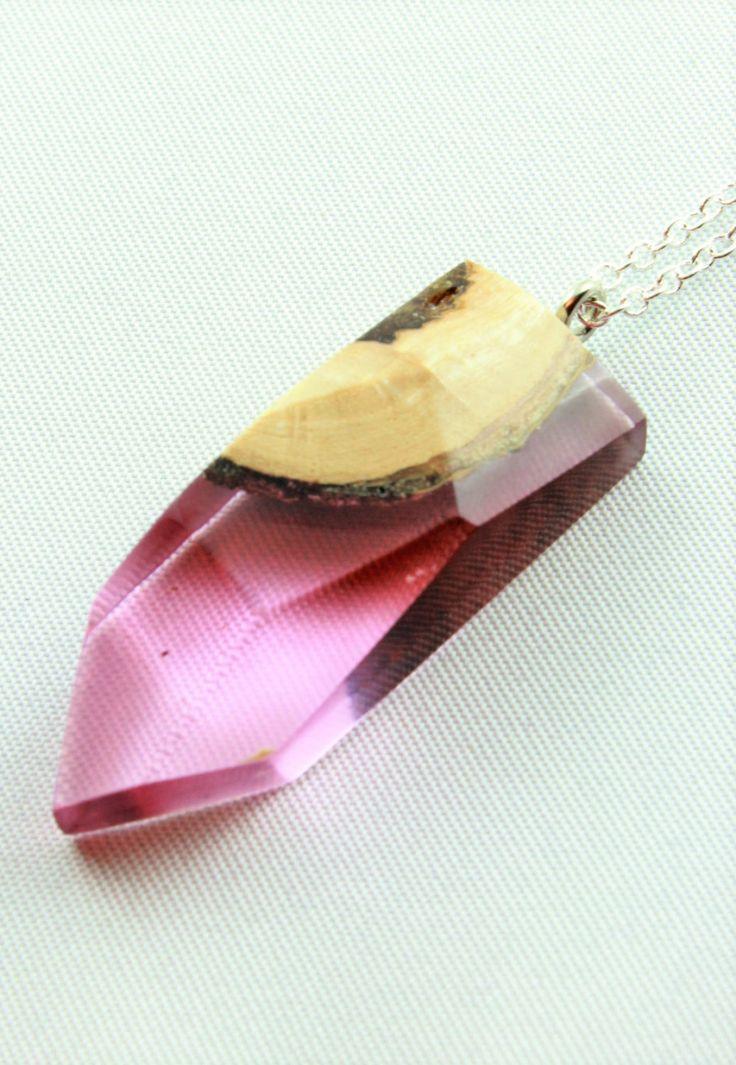 Holz Harz Halskette   Individuell, Modern, Handgemacht Aus Birnbaumholz,  Weihnachtsgeschenk,