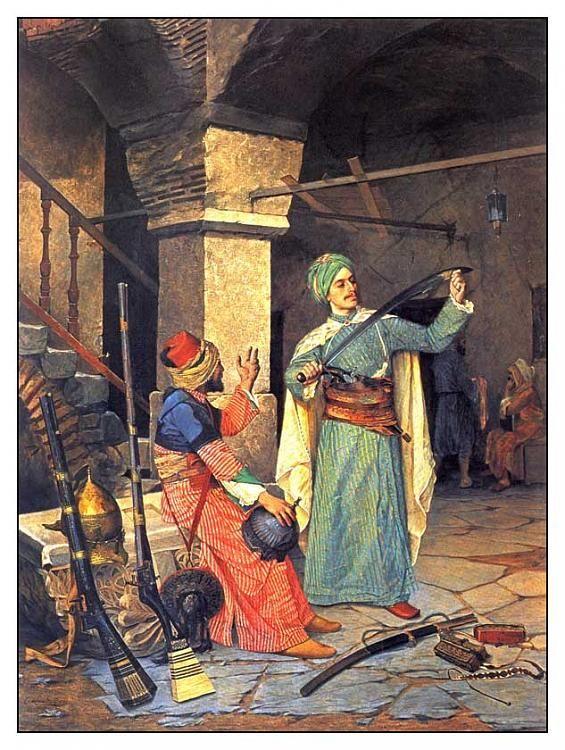 Ressam arkeoloð Osman Hamdi bey-silah-taciri.jpg