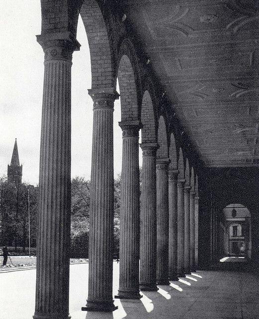 "Universität Königsberg ""Albertina"", Arkaden Königsberg/Pr. Turmspitze des Königsberger Schlosses"