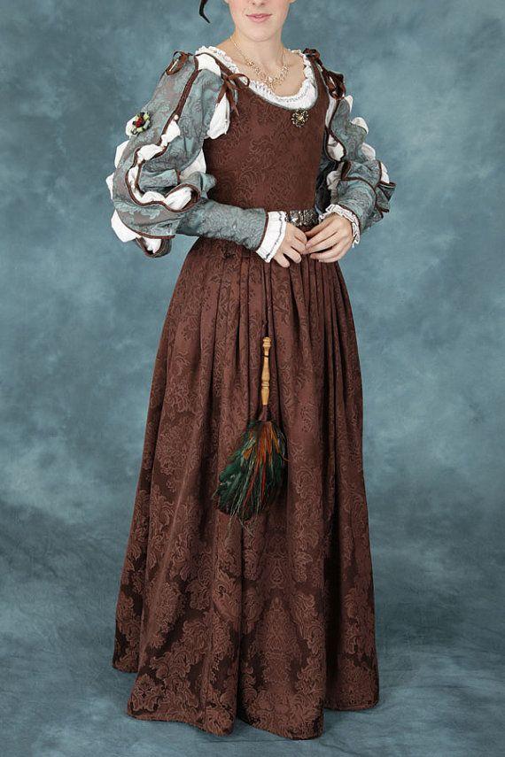 Women's Renaissance Elizabethan Noble (middle class) Gown by americanduchess, $99.00 @Chantel Waterbury Waterbury Waterbury Waterbury Waterbury Waterbury Waterbury Waterbury Loo Baker