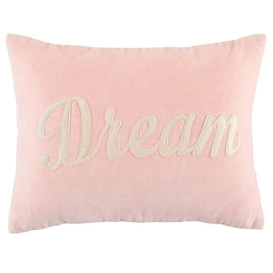 Will go with bedding I ordered. Dream Throw Pillow    The Land of Nod