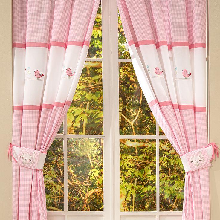 Bebek Odası Perdesi - Home Tweet Home 140 X 260 cm boyutlarında. #bebekodası #perde #dekorasyon   #dekoratif #curtain #bebekodasıdekorasyon