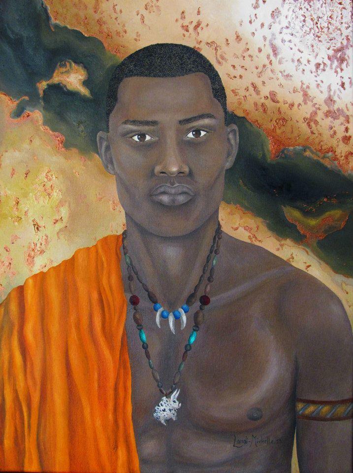 His only wish,  oil on canvas by Landi-Michelle van den Berg