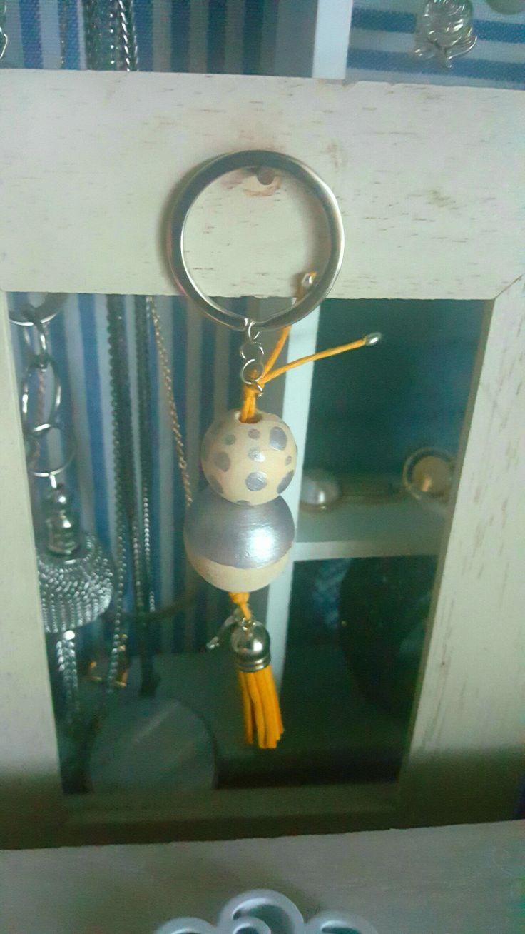 Porta-chaves pintado à mão