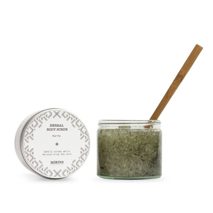 Body Scrub - Purify - Grapefruit, Rosemary Dead Sea Salt gently scrubs away dead skin while the oils and herbs moisturize and enhance. Our Purify aromatherapy line consists of a detoxifying blend of Grapefruit, Rosemary and Tea Tree essential oils. Apply scrub in circular motion, then rinse.