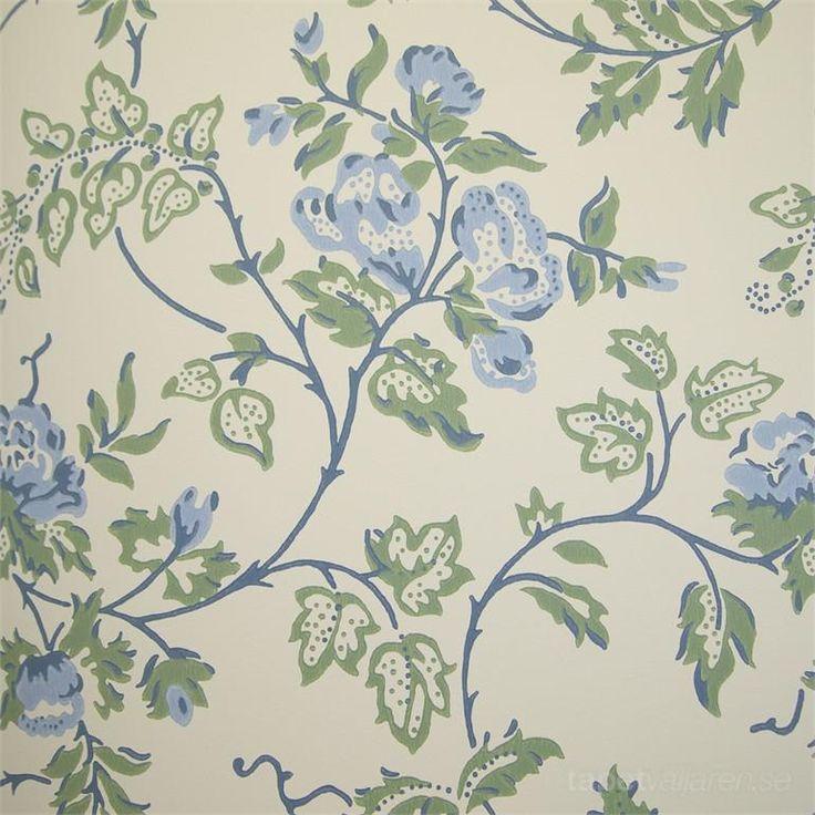 Fjärsman swedish vintage looking wallpaper from Duro