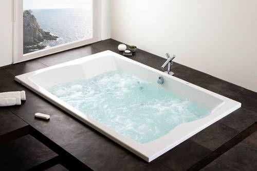Spazio Badewanne in Acryl, 2000x1400mm, Tiefe 480mm, für zwei Personen