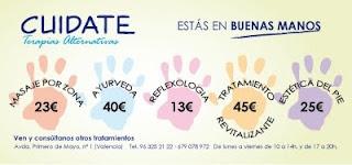 flyer publicitario CUIDATE
