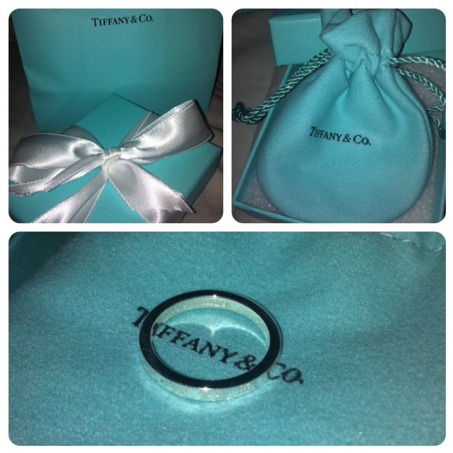 Promise ring from Tiffany that says I love you  all around it. simple, yet it says so much <3