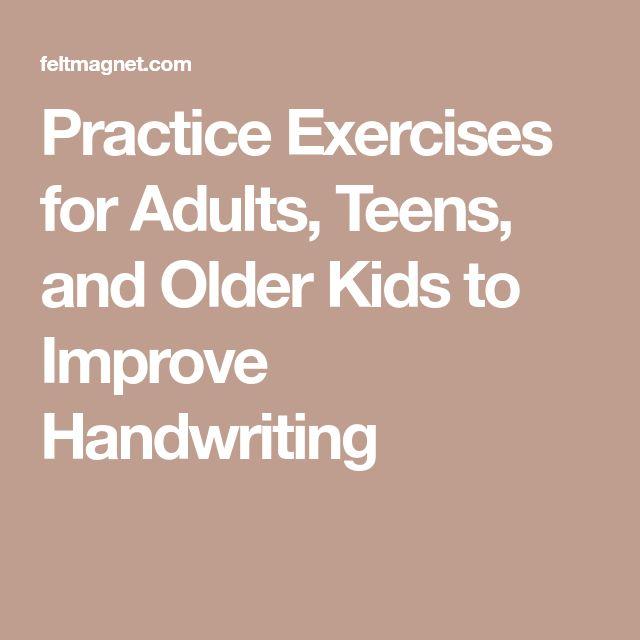 Adult handwriting skills