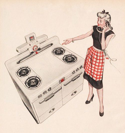 Retro Kitchen Illustration: 644 Best Vintage Kitchens Images On Pinterest
