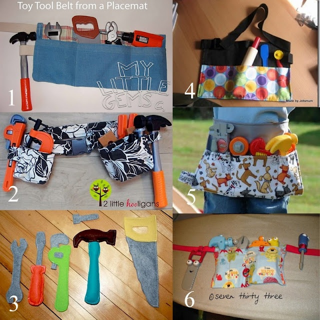 Roundup of some really cute tool belts on B is for Boy