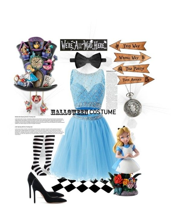 """Lovely alice"" by nancykou1 on Polyvore featuring Sock It To Me, Gianvito Rossi, Dsquared2, Disney and halloweencostume"