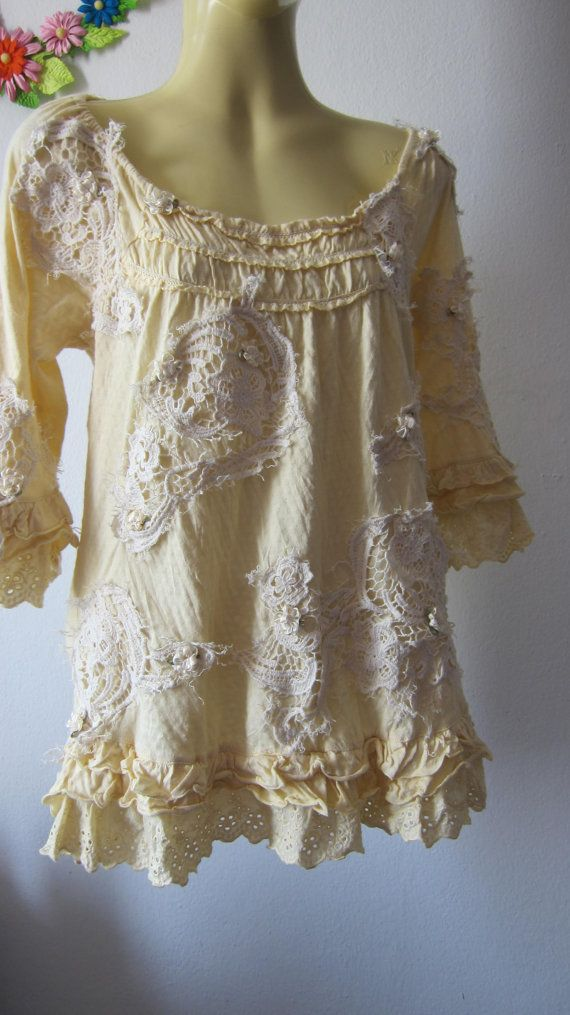 shabby chic cotton long sleeve top......