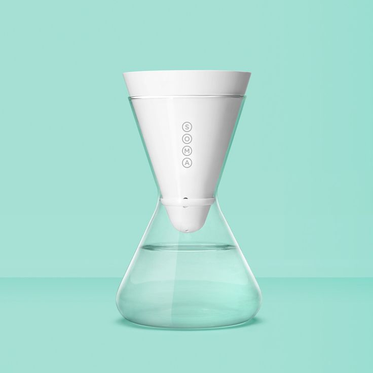 The Soma Carafe gorgeously filters your water. The Soma filter features coconut shell carbon and a plant-based casing so you can feel good about your water. Each filter is effective for 40 gallons, or about two months. consciousbychloe.com #consciousby #zerowaste