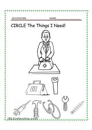 Free Doctor Worksheet For Preschool With Preschool Printables Doctor