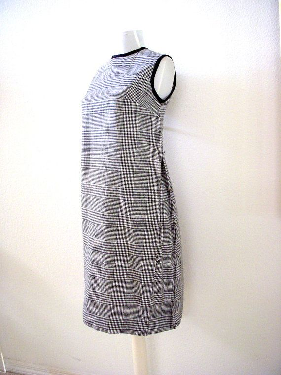 Vintage 60s MOD Maternity Dress  Black and White by OmAgainVintage